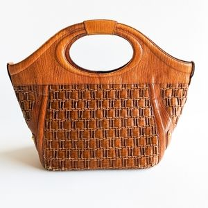 Brahmin Woven Leather Handbags Tote - Large